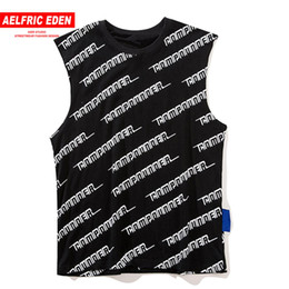 $enCountryForm.capitalKeyWord Australia - Aelfric Eden Japanese Style Letter Print Tank Tops Mens Summer Harajuku Hip Hop Fashion Casual Cotton Sleeveless Vest Streetwear