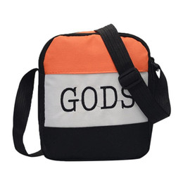 Handbag Small Fashion Man UK - Letter Print Outdoor Sports Shoulder Messenger Handbags Casual Women Men Canvas Small Crossbody Bags Dropshipping