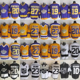 Wholesale CCM Los Angeles Kings Hockey Vintage Luc Robitaille Alec Martinez Dustin Brown Alex Lafallo Michael Amadio Stitched Jersey