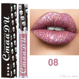 $enCountryForm.capitalKeyWord Australia - New CmaaDu Cosmetics Laser Skull Glitter Flip Lipgloss Metal Lipgloss Shinning Metallic Lipstick 8 colors as pic for choose