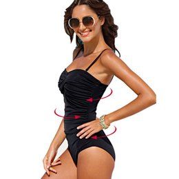 78afaab911be7 sexy solid black dot large brand plus size 4xl one piece wire free ruched  shape body women swimwear new swimsuit bathing