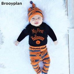 $enCountryForm.capitalKeyWord Australia - Ins Hallowmas baby clothes baby suits baby girl designer clothes newborn outfits infant sets romper+pants+hats A7045