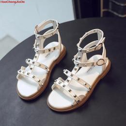 $enCountryForm.capitalKeyWord Australia - 2019 New Summer Baby Girls Gladiator Roman Sandals Children PU Leather Kids High Top Sandals Little Girl Fashion Shoes