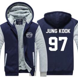 48c1857d winter hoody Korea kpop BTS 97 JUNG KOOK hip hop Men women Thicken autumn  Hoodies clothes sweatshirts Zipper jacket fleece hoodie streetwear