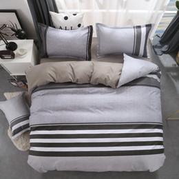 Black Bedding Full Australia - Geometric bed linen twin full queen size bedding set reactive printing bedclothes 3   4pcs duvet cover + flat sheet + pillowcase