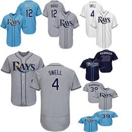 2775e2ff5c4 Tampa Bay 4 Blake Snell Jerseys 12 Wade Boggs 39 Kevin Kiermaier 2019 Rays  Baseball Jersey