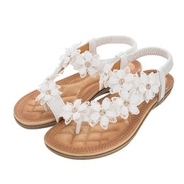 $enCountryForm.capitalKeyWord NZ - Ladies Fashion Lace Flower Low Heel Wear Resistant Herringbone Sandals Lightweight Casual Shoes