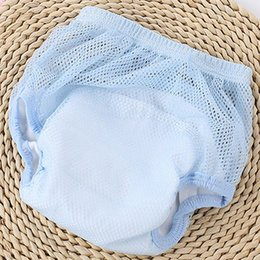 Hot Girls Diapers Australia - 1pc Hot Sell Summer New Mesh Cloth Thin Breathable Diaper Fixed Pants for Baby Girl Boy Short Pants