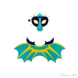 Wholesale costume dragons for sale – halloween Dinosaur Wing Cloak Suit Felt Dragon Cosplay Costumes Frost Wyrm Mask Halloween Party Perform Prop Multi Style djb1