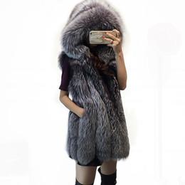 $enCountryForm.capitalKeyWord Australia - plus size luxury long faux fur vest hoodie winter coat women clothes 2019 furry jacket womens tops and blouses fall streetwear