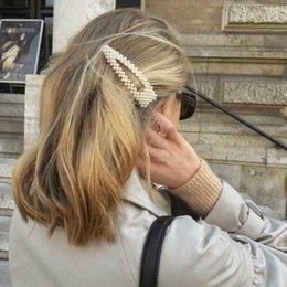 1 ADET / 2 ADET Yeni Moda Kadınlar İnci Saç Klip Yapış Saç Barrette Sopa Firkete Saç Inci Klip Aracı Aksesuarları Kadın Kızlar için indirimde