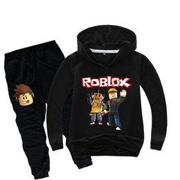 $enCountryForm.capitalKeyWord UK - Costume Game Roblox Kids Clothes Set Children Pullover Sweatshirt Hoodies+Long Pants Suit Spring Fall Teen Sports Boys Tracksuit