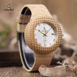 modern mans watch box NZ - Bobo Bird Wooden Quartz Watch Men Women Timepieces Leather Band Wristwatches For Gifts In Wooden Box W-iq17 Drop Shipping Y19052201