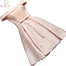 $enCountryForm.capitalKeyWord UK - Real Picture Champagne Bridesmaid Dresses Pink Blue Short Satin Knee Length Party Prom Dresses robe de mariage Cheap Custom