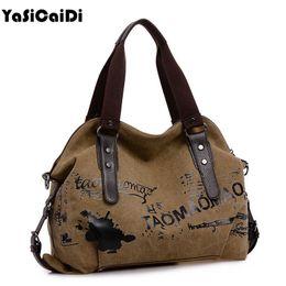 $enCountryForm.capitalKeyWord Australia - Vintage Graffiti Women's Bag Canvas Handbag Female Famous Designer Shoulder Bag Ladies Tote Fashion Large Sac a Main bolsos Muje Y190606