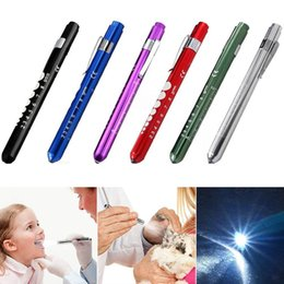 mini pen torch Australia - Portable LED Flashlight Work Light First Aid Pen Light Torch Lamp With Pupil Gauge Measurements Doctor Nurse Diagnosis