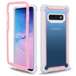 Phone clear full case online shopping - For Samsung S10 Case Full Body Clear Soft TPU Hard PC Back Cover Phone Case for Galaxy S10 Plus S10E