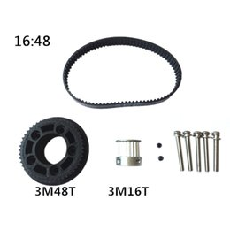 Motor belts online shopping - DIY Electrical Skateboard Parts M Motor Pulley Wheels Belts Motor Mount Kit for Electrical Skateboard