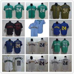 763b91c6f BaseBall jerseys ken griffey online shopping - Mens Custom Mariners Jersey  Marco Gonzales Mike Leake Felix