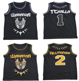 $enCountryForm.capitalKeyWord Australia - #2 Erik Killmonger The Black Movie Wakanda T'Challa Jersey Black Stitched Basketball Jerseys Top Quality Free Shipping