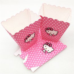Hello Kitty Pop Corn Candy Boxes Kids Birthday Party Supply Home & Garden 12 Pcs Set Baking Accs. & Cake Decorating