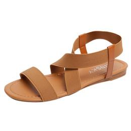 a0e83c2d3 2019 fashion sandals Women Low Heel Anti Skidding Beach Shoes Cross Strap  Sandals Peep-toe hot women shoes sandalia