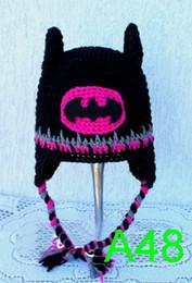 Boys Spiderman Gifts Australia - Superhero Movie Batman Spiderman Winter Beanie Crochet Baby Boy Girl Batman Mask Hat Helmet EarFlaps Infant Toddler Kids Caps Christmas Gift