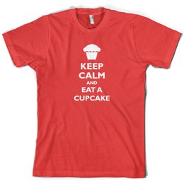 $enCountryForm.capitalKeyWord UK - Keep Calm and Eat A Cupcake Mens T-Shirt Cake Baking 10 ColoursFunny free shipping Unisex Casual top