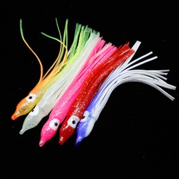 Fishing Lures 2g Australia - 20pcs 5-color 9.5cm 2g Squid Silicone Fishing Lure Soft Baits & Lures Artificial Bait Pesca Fishing Tackle Accessories