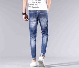 Wholesale wide leg men s jeans for sale – denim Original single new high end jeans Designer luxury soft Street hip hop Selling The New printing cotton Outdoor top quality Wild GG man jeans