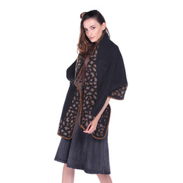 plains prints UK - 2019 European and American fashion leopard ladies long scarf temperament retro national print shawl warm scarf