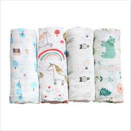 gauze towels NZ - Baby Wraps Parisarc Bamboo Cotton Bath Towels Robes Newborn Printed Swaddle Gauze Summer Blankets Pram Stroller Cover Nursery Bedding C5837