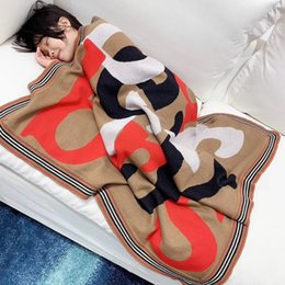 New baby quilts online shopping - Autumn Winter New Born Baby knitting sweater blanket Boy Soft For Kids Girl Infant Blanket tops