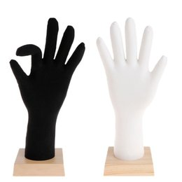 Wholesale Mannequin Hand Jewelry Display Bracket Model Finger Bracelet Bangle Ring Showcase Show Silicone Soft Universal Gloves Accessorie