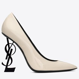 Black Evening Dresses For Ladies Australia - Designer High Heels Lather Shoes Pointed Toe Wedding Evening Prom Party Dresses Shoe For Women Sexy Ladies Fashions Black Pumps Shoes