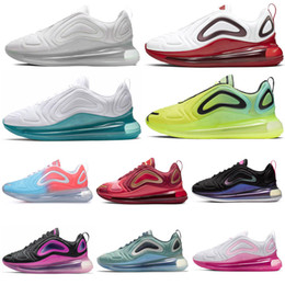pink neon lights NZ - Running Shoes for Men Women Black White Red Volt Neon Pink Rise Sunrise Sea Forest Sunset Mens Trainers Sport Sneakers 36-45 hot sale