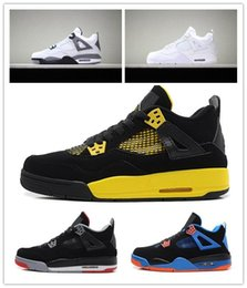 $enCountryForm.capitalKeyWord Australia - 2019 New Bred 4s Men Basketball Shoes 4 Pale Citron Pizzeria Hot Punch Lightning LASER Oreo Singles Day Tattoo Trainer Sports Sneakers 7-13