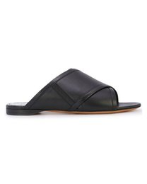 b4b52851fba9 2019ss womens fashion Black Rivington Crisscross Sandals girls causal  leather slippers size euro 35-40