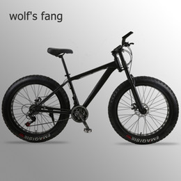 aluminum bmx bicycle Australia - wolf's fang Mountain Bike bicycle fat bike 21 speed Aluminum alloy frame 26 inch mtb road beach Snow bikes Man bmx Free shipping