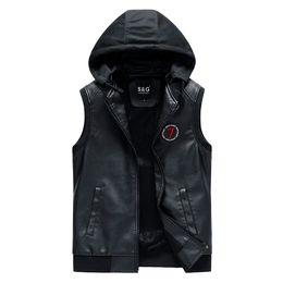 Wholesale waistcoat jackets for men for sale - Group buy Leather Vest Men New Autumn Winter Warm Sleeveless Jacket Waistcoat Men s Vests Fashion Casual Thick warm waistcoat for men