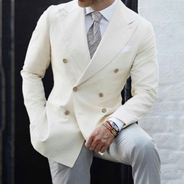 Man black grey suits designs online shopping - Men Suits for Wedding Suits Ivory Business Latest Designs Groom Tuxedo Costume Homme Piece Coat Grey Trousers Slim Fit Terno Masculino