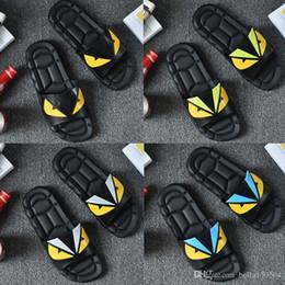 $enCountryForm.capitalKeyWord Australia - Luxury Designer slipper Summer Eye Monster men's shoes flip flops for loose-fitting men beach slippers rubber flip-flops men sandals