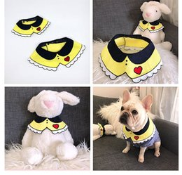 Discount knit dog collar - Hand-knitted Cat Dog Swill Scarf Fagadou Garfield Chai Corgi Fat Dog Decoration Puppy Dog Cat Collars For Small Big Dogs