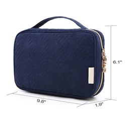 Eco jEwElry packaging online shopping - Multi Function Jewellery Bag Pure Color Jewelry Storage Wrap Female Portable Package Peach Peel Villus Zipper Multiple Pockets ycb1