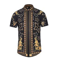 $enCountryForm.capitalKeyWord UK - 2019 summer digital creative flower pattern 3D printing shirt high quality streetwear youth hip hop fashion casual shirts men