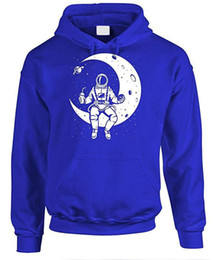 sweatshirt character 3d UK - Astronauts 3D Print Mens Hoodies The Moon Autumn Thick Mens Sweatshirts Casual Hooded Male Clothing