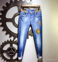 mens short jeans Australia - 19ss High quality Hole Men skinny Cool Guy distressed Jeans designers slim jeans Straigh men s designer shorts pants mens skinny jeans