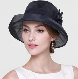 $enCountryForm.capitalKeyWord Canada - 2019 100% Natural Mulberry Silk Hats for Women Ladies High Quality Sun Hats Party Elegant Caps Female Summer Beath Hats Anti-uv