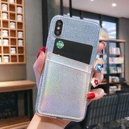 $enCountryForm.capitalKeyWord Australia - Glitter Bling Soft TPU Leather Card Slots Case For XiaoMi 5X 6X 8 SE 9 F1 MAX MIX 2 3 A2 Lite RedMi 5A S2 6A Note 4X 5 6 7 Pro 7A K20
