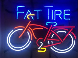 Best Bar Glasses Australia - 19X15 Inches Fat Tire Bicycle Bike Real Glass Neon Sign Beer Bar Pub Light Handmade Artwork BEST GIFT Fast Shipping